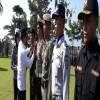 Bupati Mursini Pimpin Apel Gelar Pasukan Operasi Ketupat Muara Takus 2018